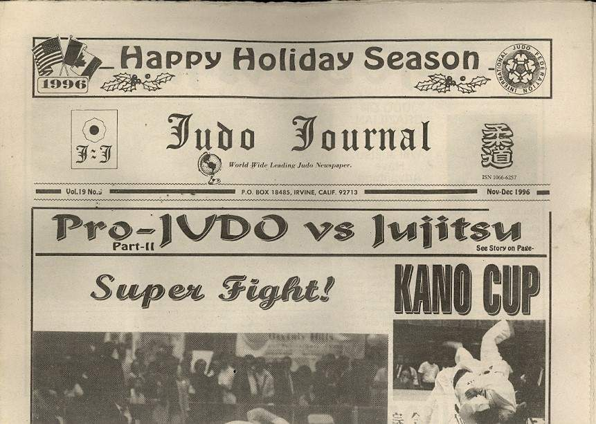 11/96 Judo Journal Newspaper