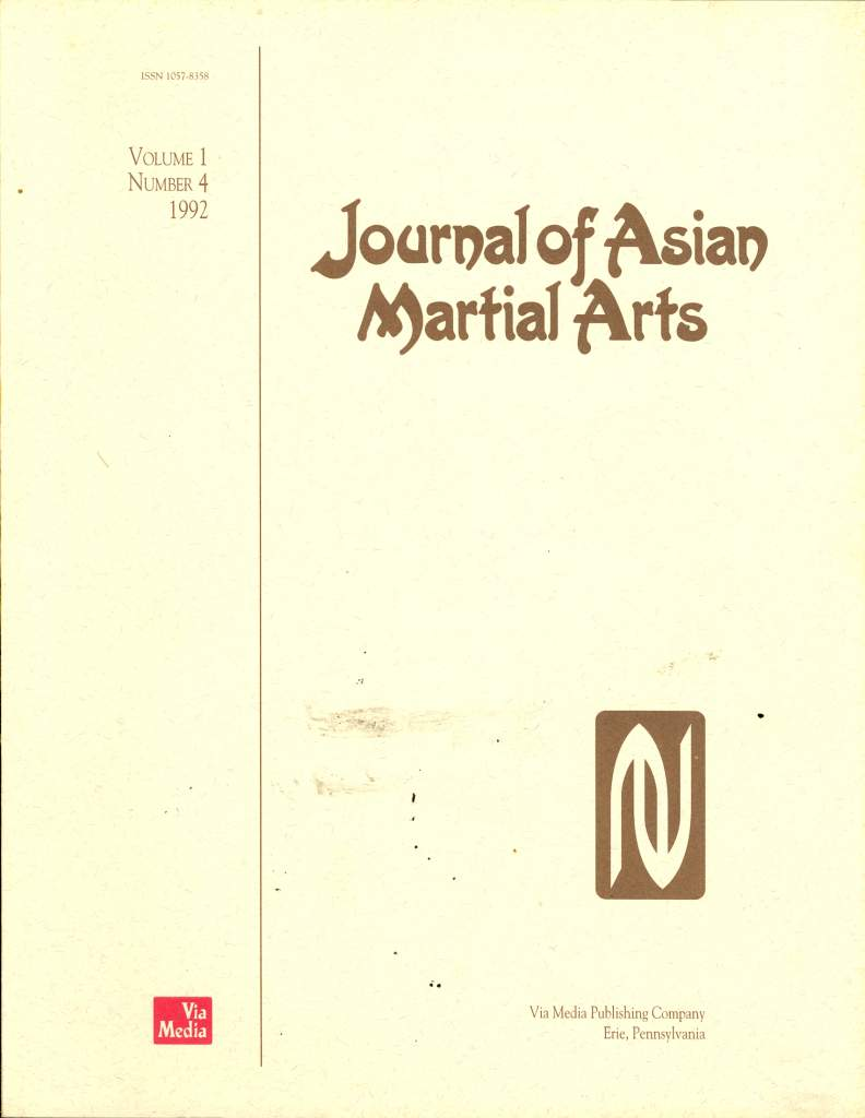 10/92 Journal of Asian Martial Arts