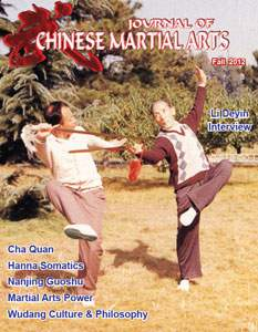 Fall 2012 Journal of Chinese Martial Arts