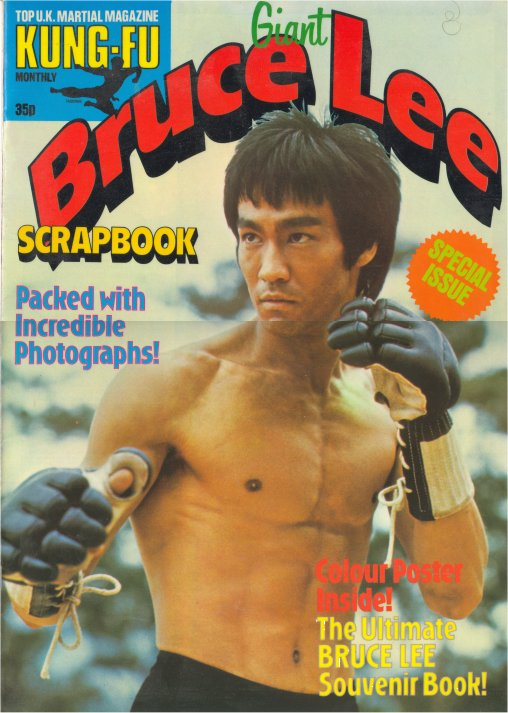 1979 Giant Bruce Lee Scrapbook Kung Fu Monthly Poster U