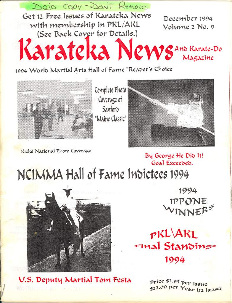 12/94 Karateka News