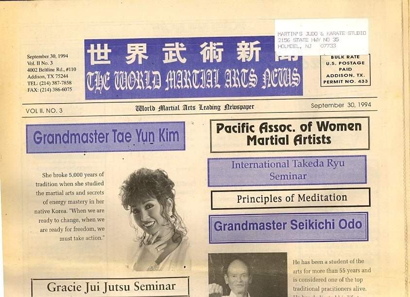 09/94 The World Martial Arts News
