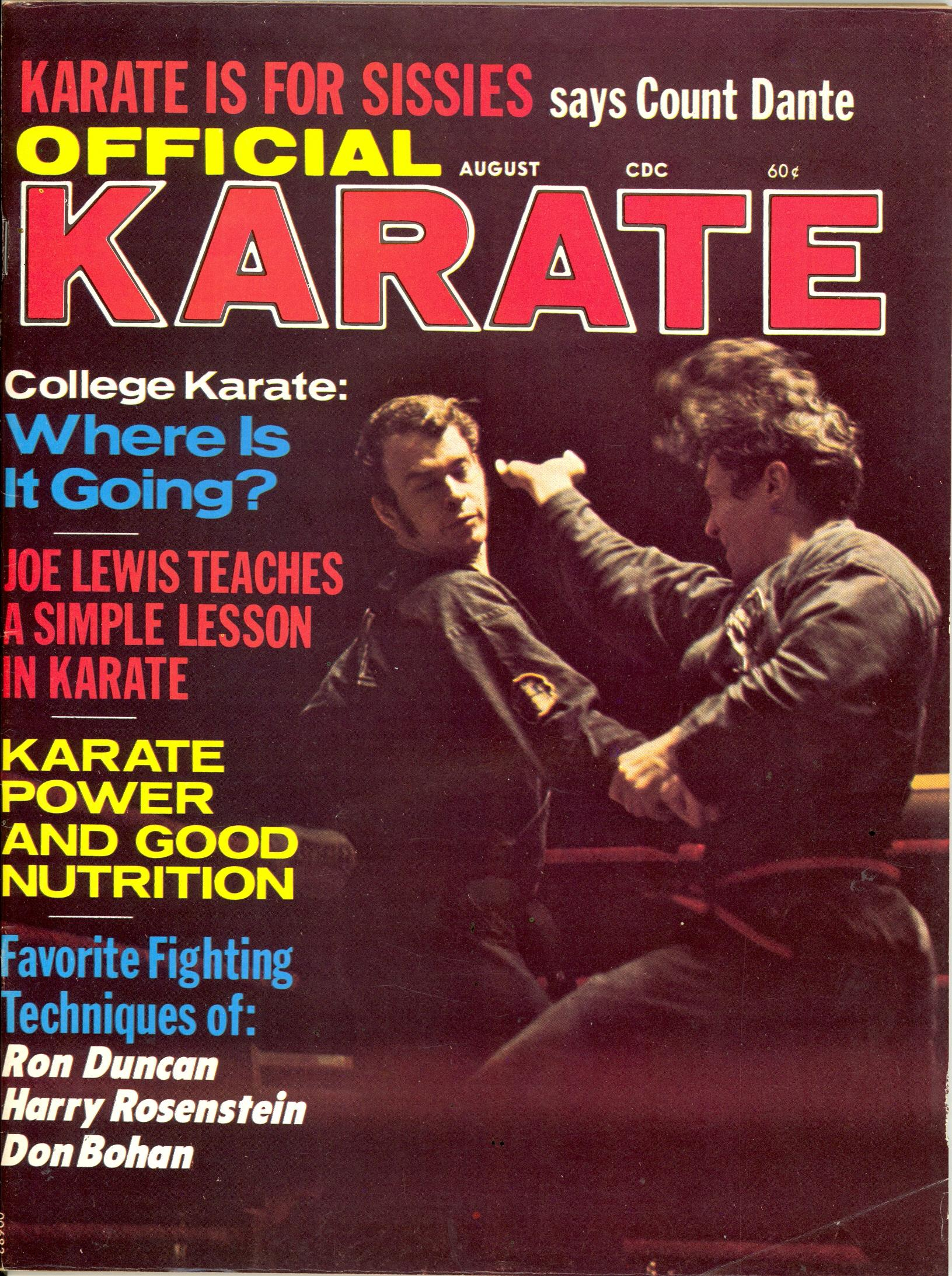 08/71 Official Karate