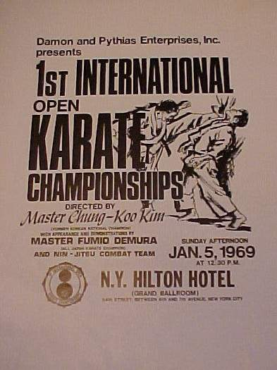 1969 1st International Open Karate Championships