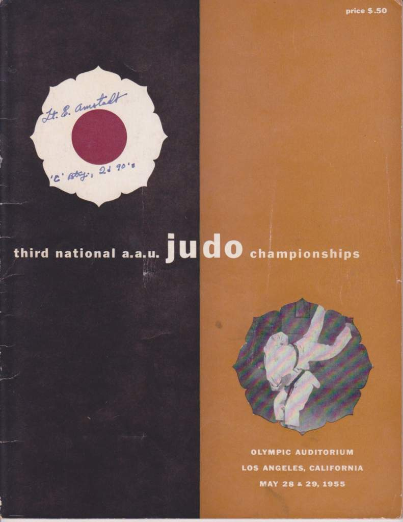 1955 National A.A.U. Judo Championships Program
