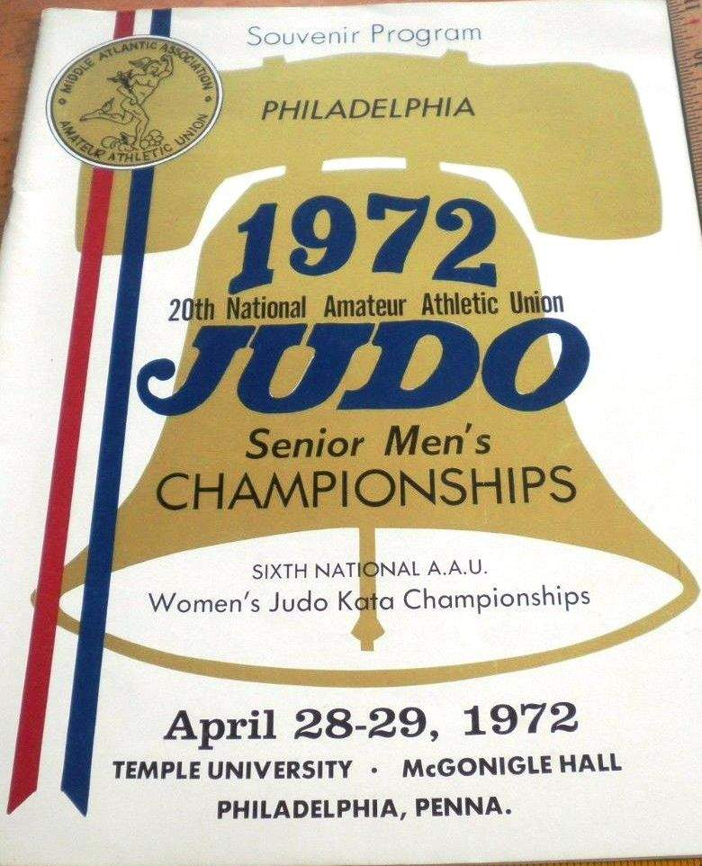 1972 National A.A.U. Judo Championships Program