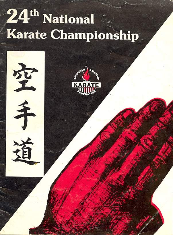 1985 National Karate Championship Program