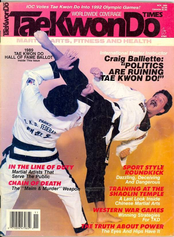 11/89 Tae Kwon Do Times
