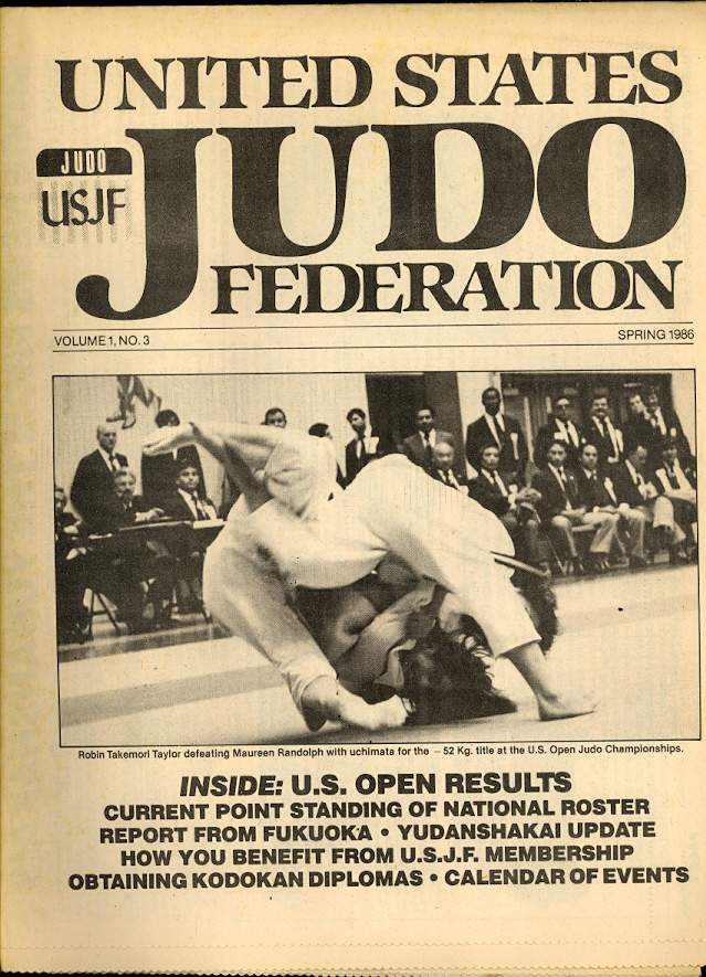 Spring 1986 United States Judo Federation Newspaper