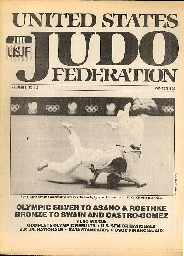 Winter 1988 United States Judo Federation Newspaper