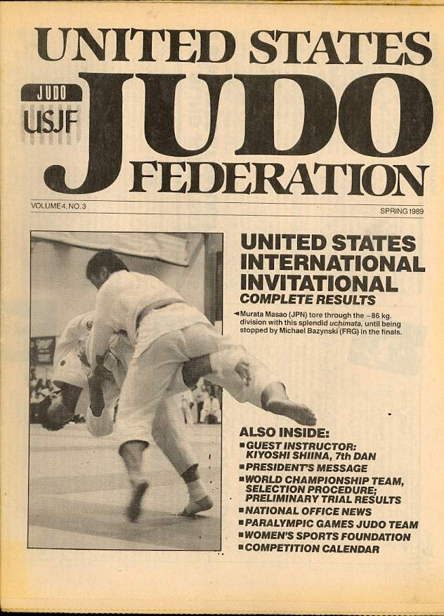 Spring 1989 United States Judo Federation Newspaper