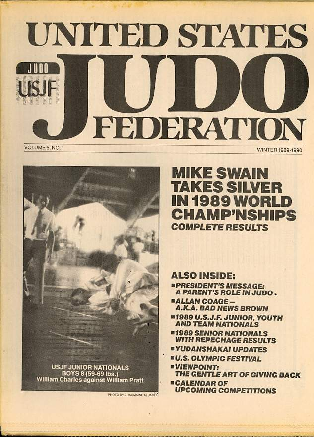 Winter 1989 United States Judo Federation Newspaper