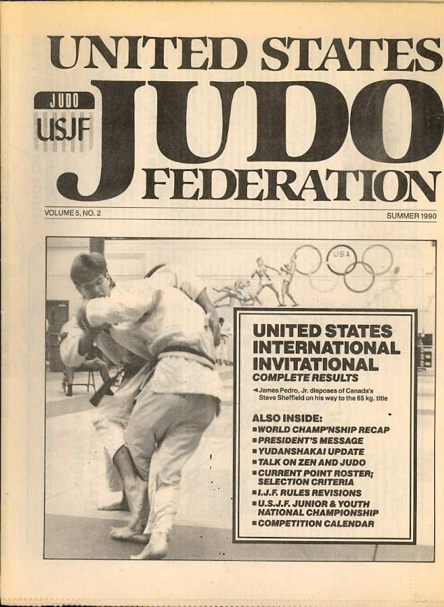 Summer 1990 United States Judo Federation Newspaper