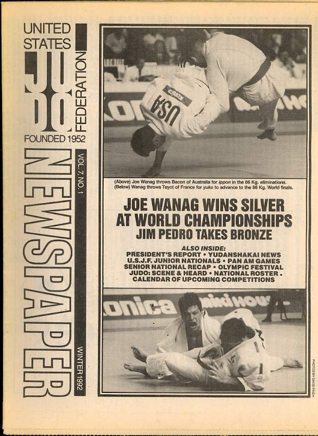 Winter 1991 United States Judo Federation Newspaper