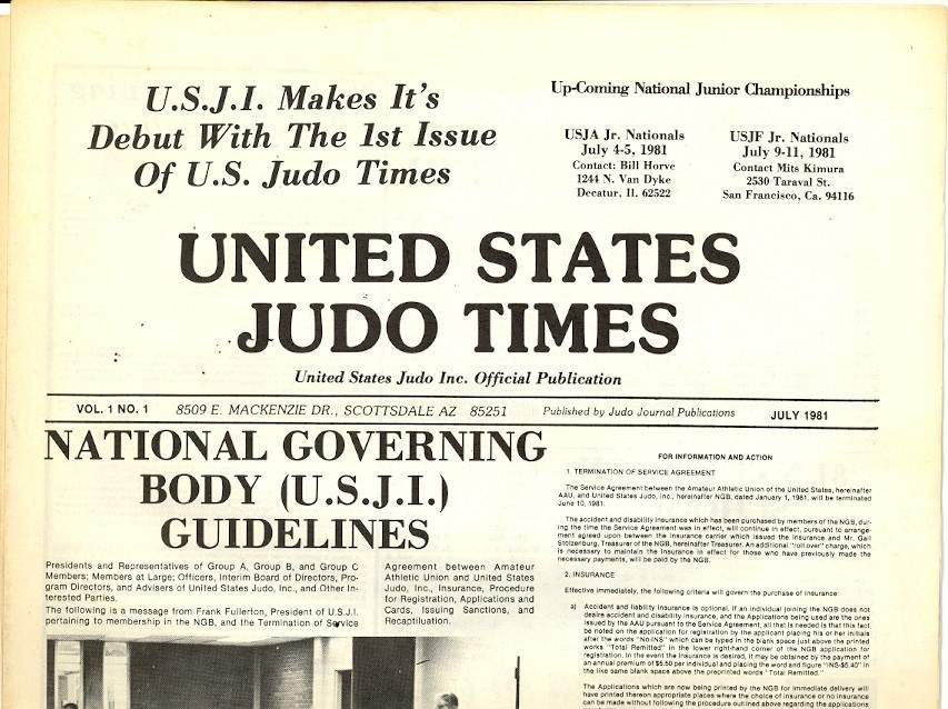 07/81 United States Judo Times